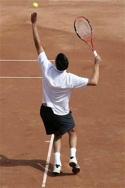 Tennis Serve Sports Rules Short Pose Playing