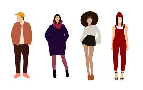 Flat Fashion People Illustrations - Vector For Free