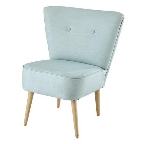 fauteuil met katoenen bekleding vintage stijl turquoise scandinave maisons du monde
