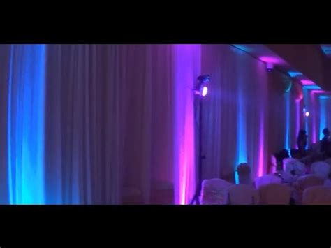 Wedding Decoration Ideas Purple & Blue Uplighting, Table