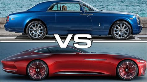 Rolls Royce Vs Maybach by Rolls Royce Phantom Coupe Vs Vision Mercedes Maybach 6