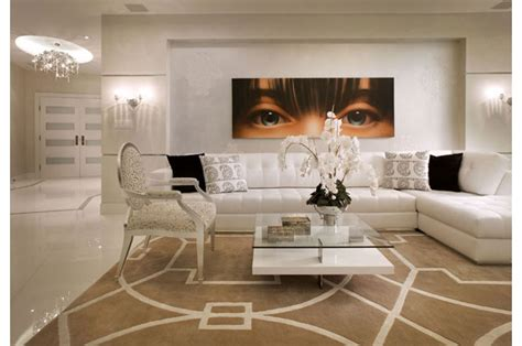 elegant contemporay interior   cream  white color