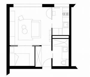 paris 17 un petit appartement de 31 m2 restructure With plan appartement 150 m2