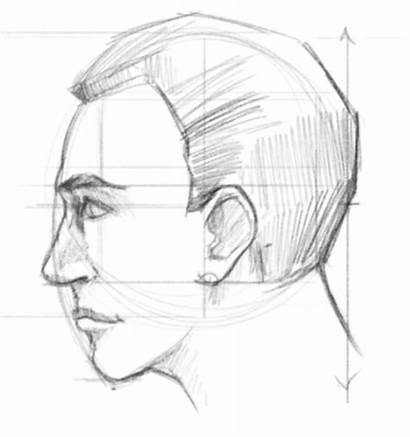 Face Side Draw Drawing Hair Profile Sketch
