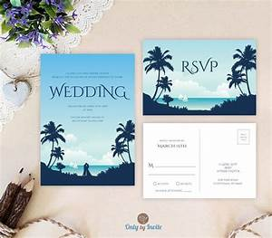 Destination wedding invitations with rsvp card printed for Inexpensive destination wedding invitations