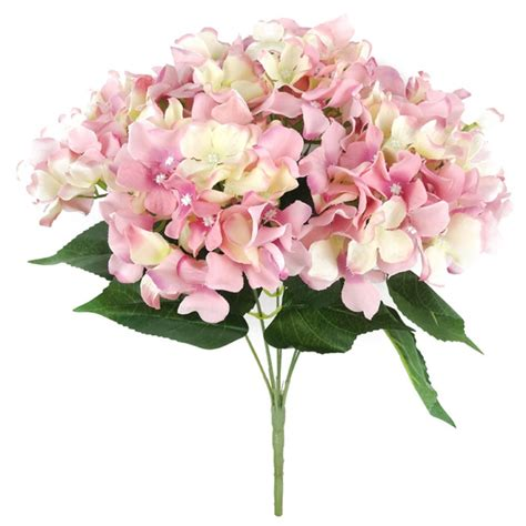 hydrangea heads beauty artificial silk green hydrangea bush mop heads multiple colors available ebay