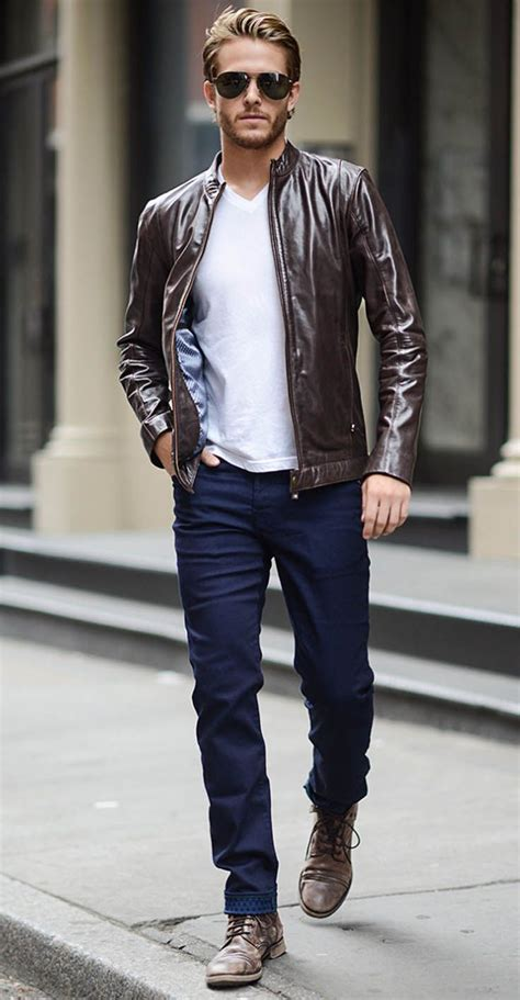 25+ best ideas about Mens brown leather jacket on ...