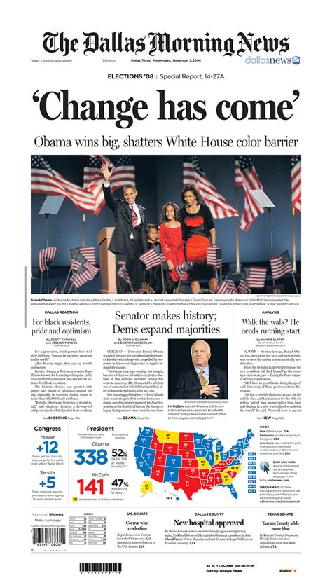 obama newspaper front page headlines  barack obama