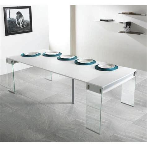 console extensible blanc laque pas cher table blanc laque pas cher maison design hosnya