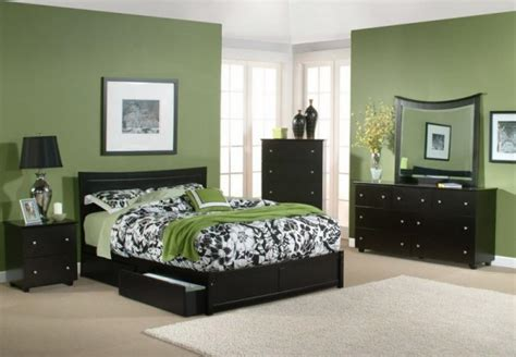bedroom color dark furniture  style