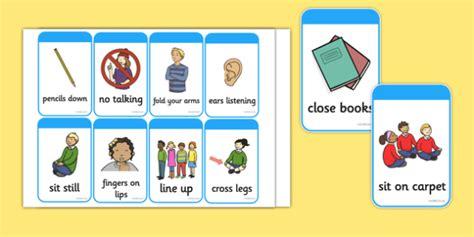 Behavior Modification Verb by Behaviour Commands Flash Cards Behaviour
