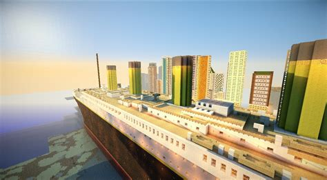 Minecraft Titanic Sinking Mod by Titanic Departure Travel And Sinking Minecraft