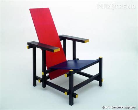 chaise de designer celebre mondrian et de stijl chaise de rietveld créée en 1924