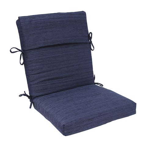 shop allen roth navy standard patio chair cushion at