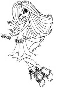 Monster High Spectra Coloring Pages