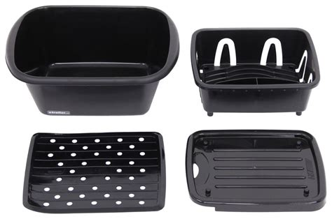 kitchen sink dish pan camco sink kit with dish drainer dish pan and sink mat 5701
