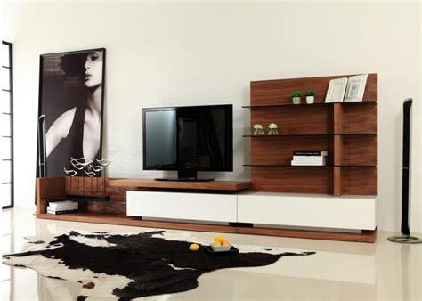 Modrest Jefferson Modern Walnut And White High Gloss Tv