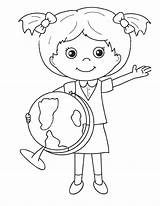 Globe Coloring Pages Coloringtop sketch template
