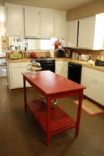 diy kitchen island table 8 diy kitchen islands for every budget and ability blissfully domestic