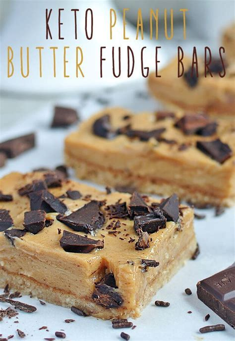 keto peanut butter fudge bars recipe keto cookies