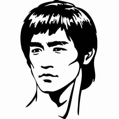 Bruce Lee Retrato Vinilo Portrait Vinilos Cine
