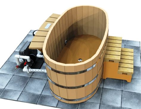 wooden soaking tubs japanese wood ofuro tub with electric heater cedartubsdirect