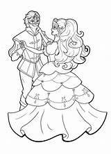 Ballroom Coloring Pages Dancing Getcolorings Getdrawings Col sketch template