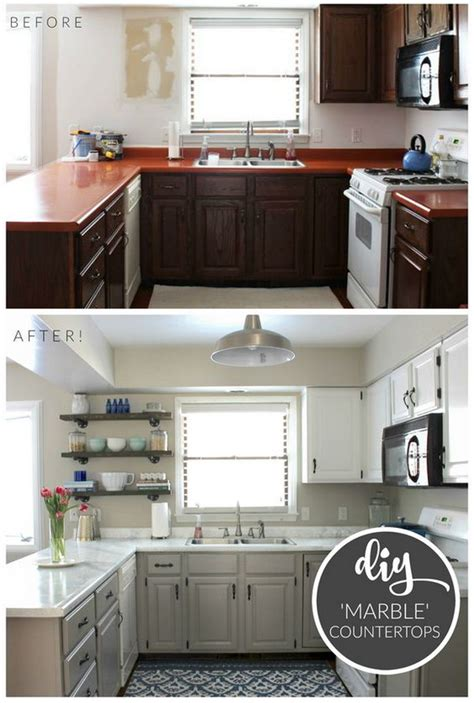 diy small kitchen makeover pretty before and after kitchen makeovers 6890