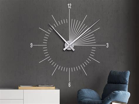 Moderne Uhren Für Die Wand by Wandtattoo Uhr Moderne Zeit Wanduhr Wandtattoo De