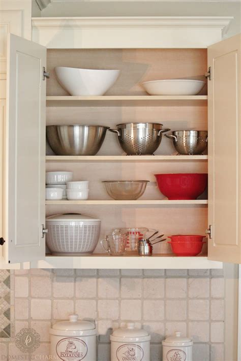 small kitchen cabinet organization organizing your kitchen cabinets domestic charm 5419