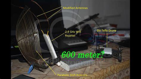 dji ryze tello range test  modified extender youtube