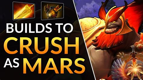 4 item builds to dominate mars carry support gameplay tips dota 2 guide youtube