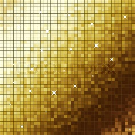 golden  mosaic flickering square vector background