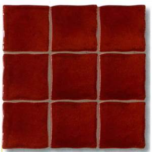 carrelage mural delice d39antan rouge 98x98cm tous With carrelage mural rouge cuisine