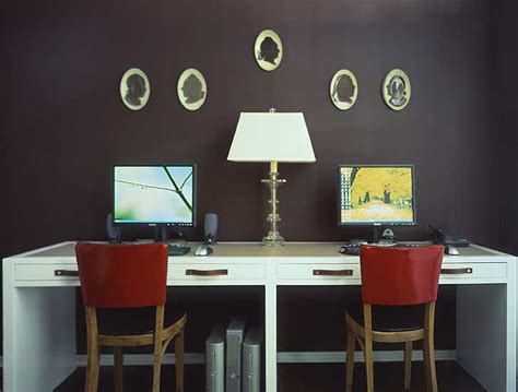 Double Desk Ideas  Contemporary  Denlibraryoffice M