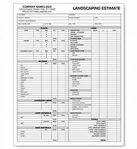 Share Certificate Word Template 6 Landscaping Estimate Templates Free Word Excel Pdf