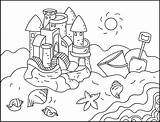 Coloring Pages Nicole Sand Castles Sandcastles sketch template