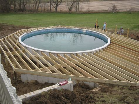 Ideas Of Above Ground Pool Deck Plans  Tedxumkc Decoration