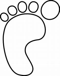 Left Baby Foot Clip Art at Clker.com - vector clip art ...