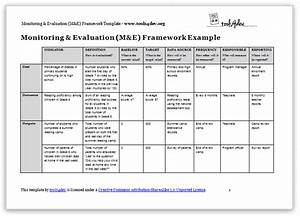 monitoring and evaluation me framework template tools4dev With project monitoring plan template