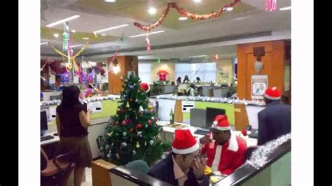 christmas decoration in office decorating office ideas