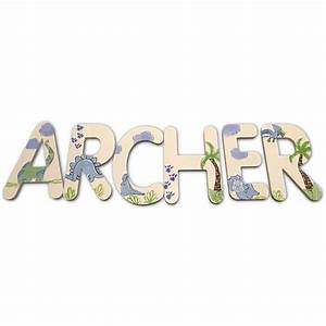 archer dinosaurs hand painted wall letters With painted wall letters