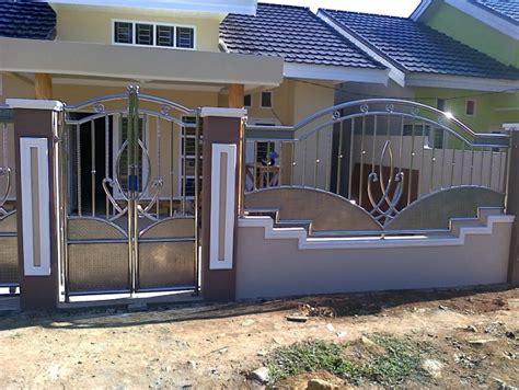 model pagar minimalis  modern rumah idaman