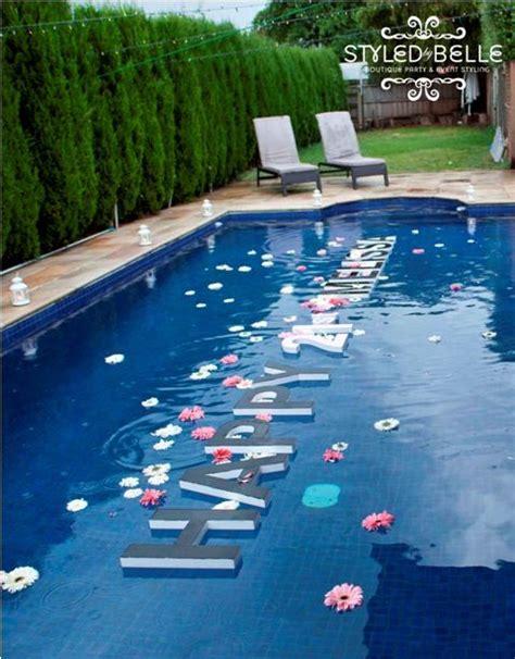 Pool Decoration outdoor pool decor birthday themes pool