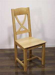 Chaise Chene Massif : chaise en ch ne massif de style campagne assise ch ne meuble en ch ne ~ Teatrodelosmanantiales.com Idées de Décoration
