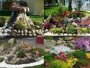 steine garten bepflanzen arten bodendecker stauden With französischer balkon mit garten bodendecker