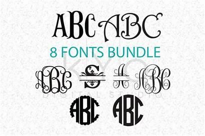 Cricut Monogram Svg Fonts Letters Font Cut