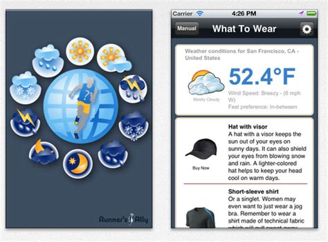 apps tell you what to wear cycling and running the