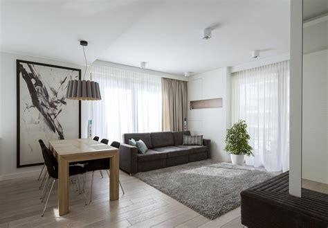 boden für wohnung modernes wohnzimmer mit dunklem sofa einrichten 55 ideen