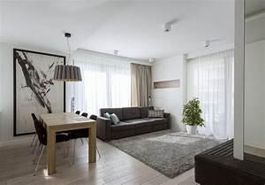 Grauer Esstisch : modernes wohnzimmer mit dunklem sofa einrichten 55 ideen ~ Pilothousefishingboats.com Haus und Dekorationen